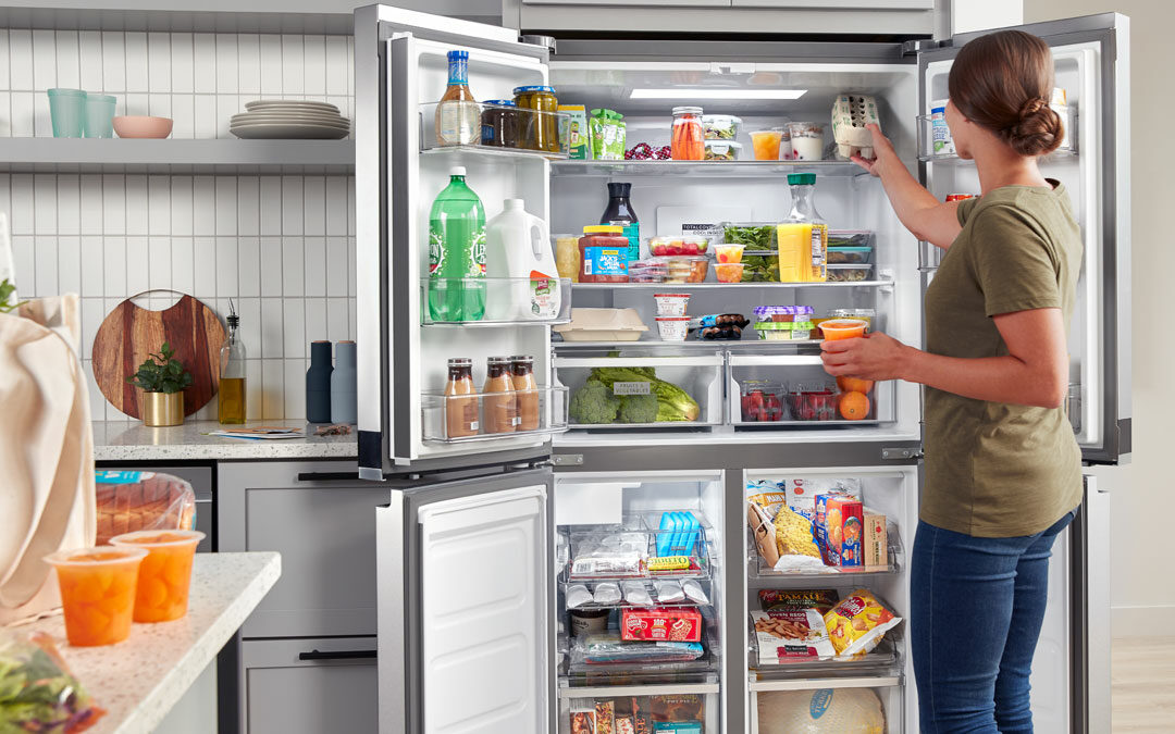 Whirlpool Refrigerators with flexible shelves